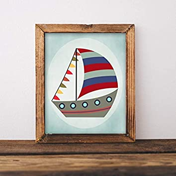 graphic about Sailboat Printable known as : Xmas Framed Indicator Sailboat Printable Wall
