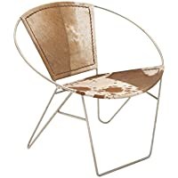 Deco 79 80889 Metal Hide Leather Chair, 30W/29H