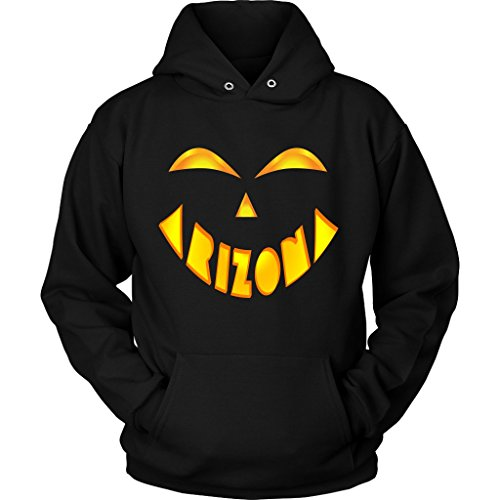 Arizona State Jack O' Lantern Pumpkin Face Halloween Costume Hoodie, Medium -