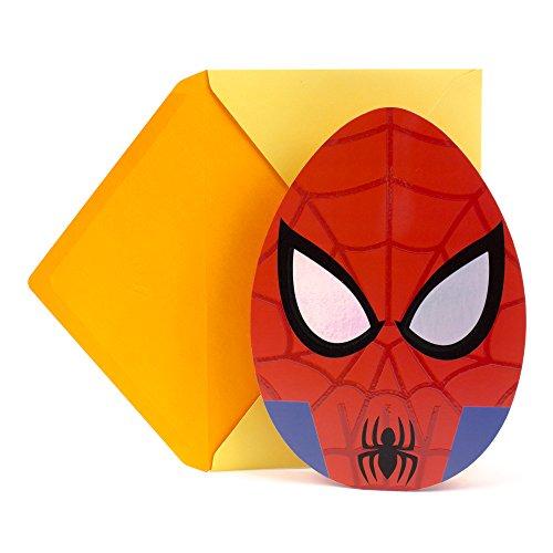 Hallmark Easter Greeting Card for Boys (Spider-Man Egghead) (Online Easter Baskets)