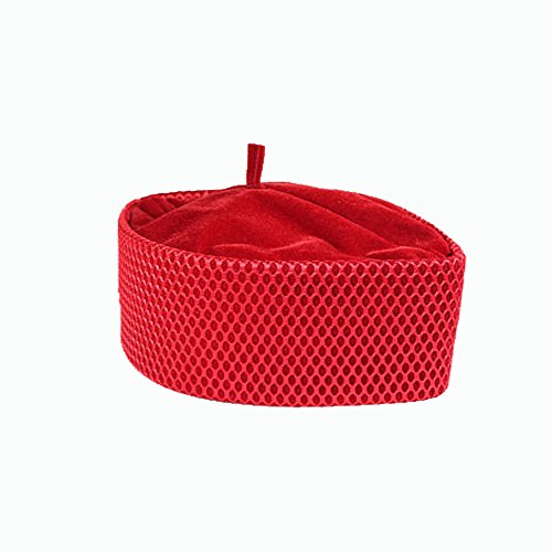 Oga Faaji African Kufi Apapo Cap by (Large 24 1/4 inches, Red) by Oga Faaji