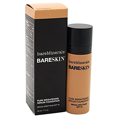 bareMinerals bareSkin Pure Brightening Serum Foundation SPF 20, Bare Beige 08, 1 Ounce
