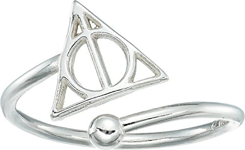 Alex and Ani Women's Harry Potter Deathly Hallows Ring Wrap Sterling Silver One Size by Alex and Ani