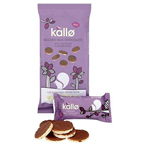 Kallo La Leche De Chocolate Belga Tortas De Arroz Mini Multipack 4 X 21G: Amazon.es: Alimentación y bebidas