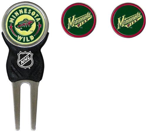 Nhl Golf Balls (NHL Minnesota Wild Divot Tool Pack With 3 Golf Ball Markers)