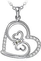 """Kette Damen, ZHULERY """"Netter Schmetterling"""" 925 Sterling Silber Kette Geschenk für Damen Geschenkverpackung 45+5cm Verlängerungskette"""