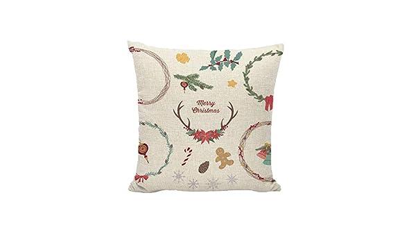 Unionm 89# Fundas de almohada para decoración navideña, lino ...