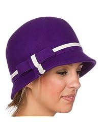 Sakkas Olivia Vintage Style Wool Cloche Hat