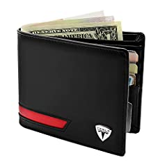 Tesla Leather Wallet With 6 Credit Card Slots+2 Big Slots For Unfolding Cash And Can Hold 2 ID Cards Window                              The daily companion:              Tesla Wallets offer a variety of functions to carry eve...