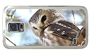 Hipster Samsung Galaxy S5 Case protective cover northern saw whet owl PC Transparent for Samsung S5