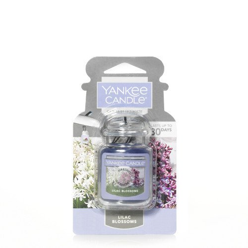 Yankee Candle Lilac Blossoms Car Jar Air Freshener, Floral Scent