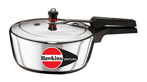 Hawkins Ventura Hard Anodised Black Base Pressure Cooker, 3-