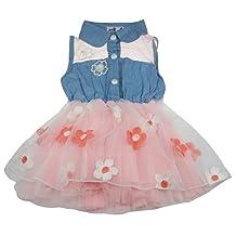 Changeshopping(TM)Fashion Cute Denim Skirt Waist Flower Girls Doll Dress