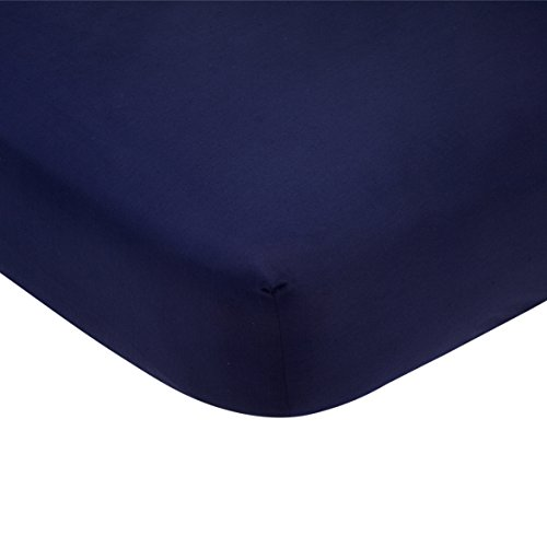 Carter's Solid Navy Blue Cotton Sateen Crib Sheet - 52