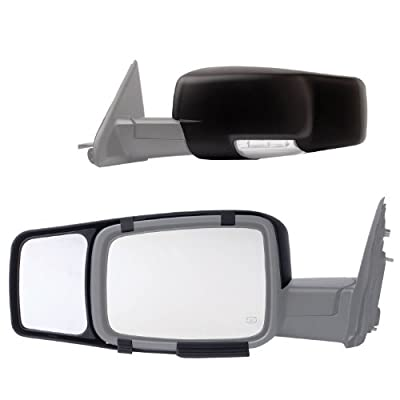 Fit System 80710 Snap-on Black Towing Mirror for Dodge RAM 1500/2500/3500 - Pair from Fit System