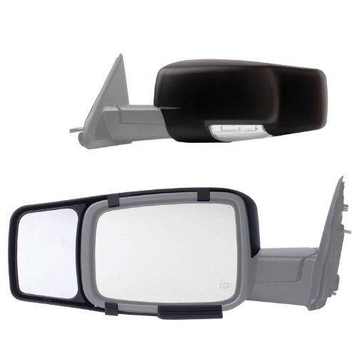 Fit System 80710 Snap-on Black Towing Mirror for Dodge RAM 1500/2500/3500 - (Ram 1500 Towing)