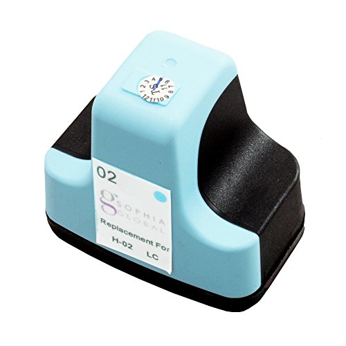 Sophia Global Remanufactured Ink Cartridge Replacement for HP 02 (1 Light Cyan)