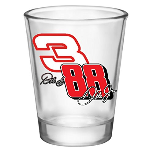 (Shot Glass - Nascar Dale Earnhardt Sr. and Jr. #3 and #88 (2oz))