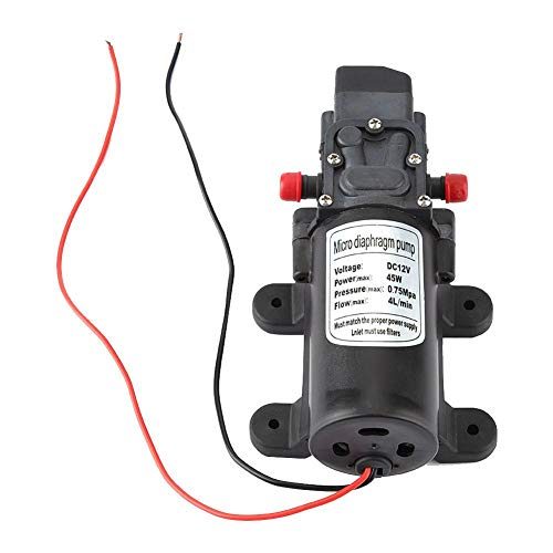 Self Priming Water Pressure Pump 12V DC,0142YA-12-45 Micro Electric Diaphragm Pump Water Pump Caravan/RV/Boat/Marine