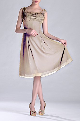 Length Special champagnerfarben the Dress Mother Pleated Brides Bridesmaid Knee Formal of Occasion q1ERwWzCA