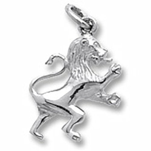 Lion Charm In 14k White Gold, Charms for Bracelets and - 14k Charm Lion Gold