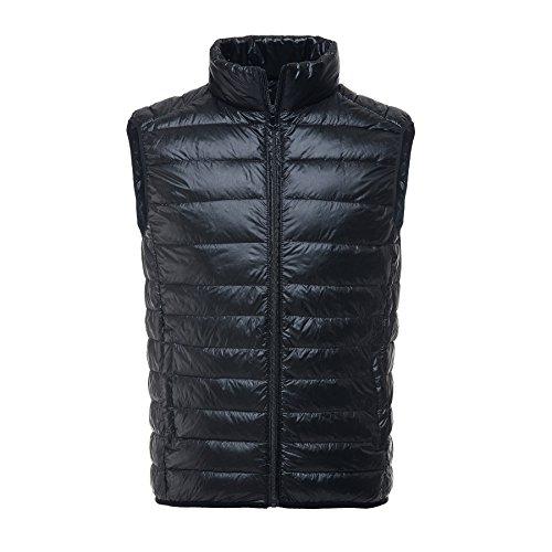 Sport Puffer Vest (Caracilia Men's Down Puffer Vest Tag XXL/US L Black CA14)