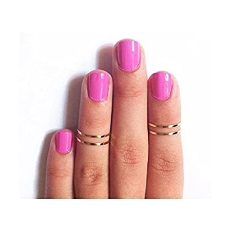 16pcs//Set New Punk Stackable Plain Band Above Knuckle Midi Finger Ring In SL