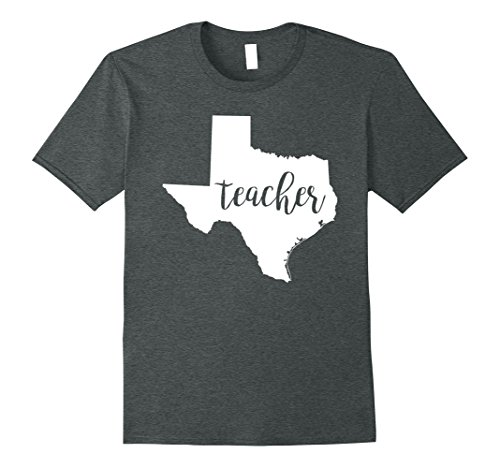 Mens Texas Teacher home state back to school tee shirts Small Dark Heather