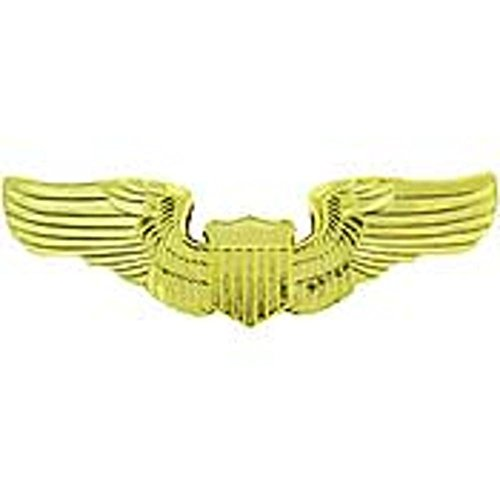 U.S. Air Force Pilot Wings Pin Gold Plated 3
