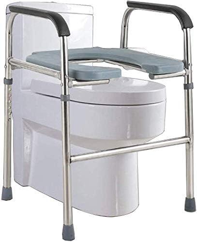 GBX Beweglich Faltbare Durablefolding Potty Wc Stuhl, Mobil Kopfendecommode, Alter Mann Wc-Stuhl, Leicht Höhenverstellbar, Unterstützung Für Ältere Senioren, Behinderte, Behinderte, Großeltern