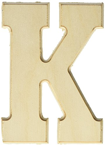 MPI Baltic Birch University Font Letters and Numbers, 5-Inch, Letter-K