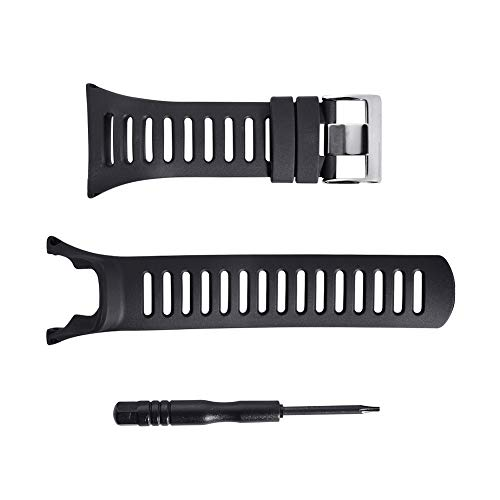 Soft Rubber Replacement Band, Smart Watch Wrist Strap, Black ()