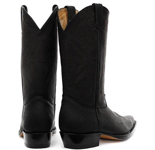Nero A Stivali Marrone In Texani Vera Stile O Punta Da Cowboy Uomo Pelle Ran4waqF
