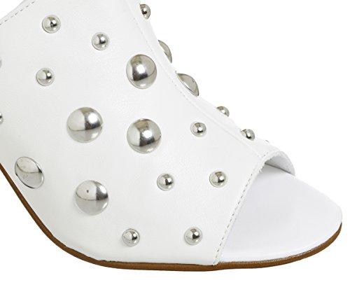 Office Harsh Studded Mules White Silver Studs oWDMRj8