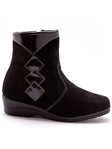 Boots En Laine Cuir Thermovitex Pure Noir Fourrés OvdFvax