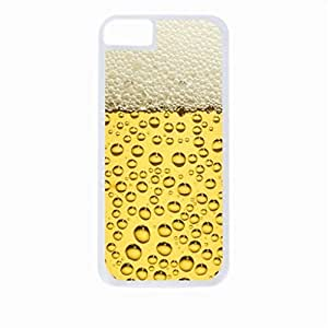 Beer Cup Up-Close- Case for the Apple Iphone 4-4s Universal-Hard White Plastic Outer Shell with Inner Soft Black Rubber Lining