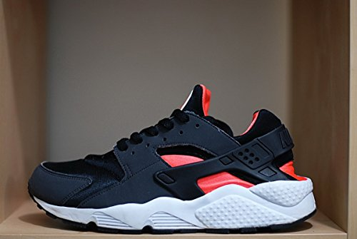 Nike Mens Air Huarache Black and Orange Suede and Synthetic Trainer