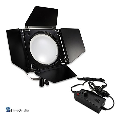 LimoStudio Video Studio Dimmable LED Barndoor Continuous Light Kit with Carry Case, Neutral Day Light Tone 5500K, Photo Studio, AGG2544 by LimoStudio