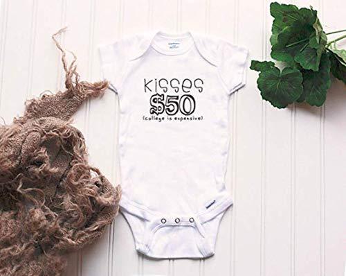 College Kisses Onesie® - kissing booth Onesie®, xoxo Onesie®, saving for college, baby name Onesie®, funny baby Onesie®, new baby -