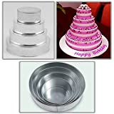"4 Tier Round Multilayer Wedding Birthday Anniversary Baking Cake Tins Cake Pans 6"" 8"" 10"" 12"" - EUROTINS"