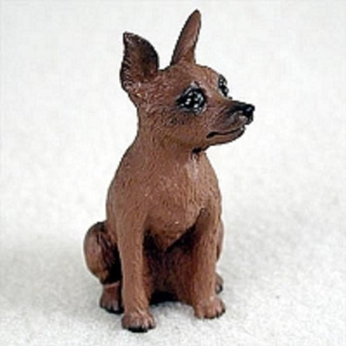 Brown Tiny One Figurine - Miniature Pinscher Red & Brown Tiny One Figurine