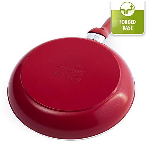 GreenPan Rio Ceramic Cookware Set, 16pc, Red