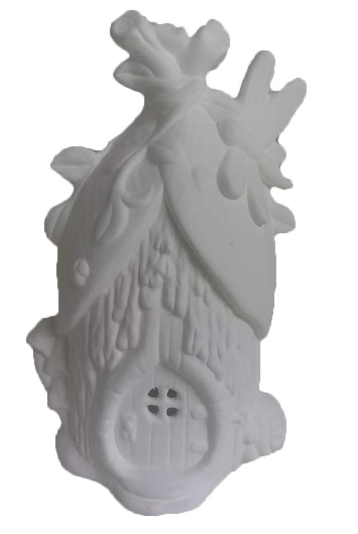 Dragonfly Villa Fairy House 8 x 5 Ceramic Bisque Ready to Paint