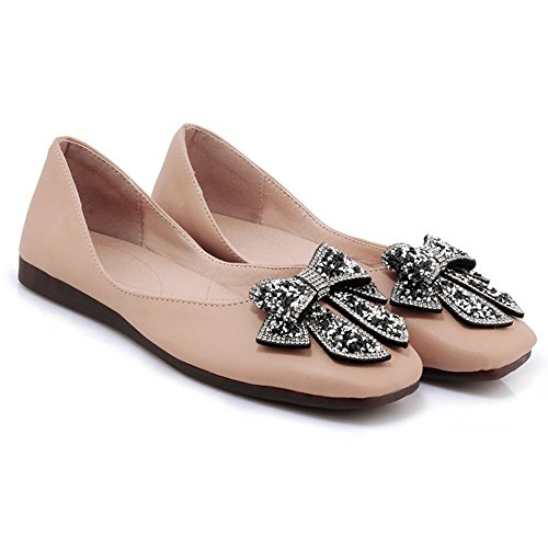 Chaussures Plates Ballet De Mode D'abricot Des Femmes Taoffen