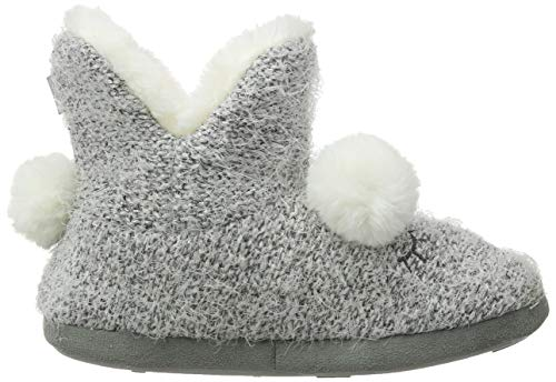 Donna A Ladies silver Pantofole Slippers Boot Argento Totes Alto Sil Novelty Collo 48qwpxH