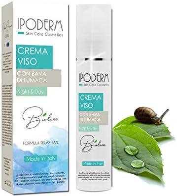 Ipoderm BIO crema facial de baba de caracol 50 ml, ácido hialurónico, manteca de karité, péptidos biomiméticos, aceite de almendras dulces, aloe vera