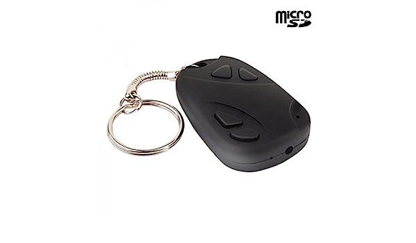 Puerta llaves cámara espía con micrófono integrado - tarjeta Micro SD 32 GB: Amazon.es: Bricolaje y herramientas
