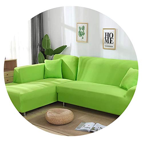 Old street 2 pcs Covers for L Shape Sofa Universal Stretch Fabric Solid Color Corner Couch Elastic Anti-ash Decor Resistant Sofa Slipcover,10,2seater and 3seater