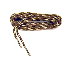 Rugged Wear Brown - Tan Round Polyester Boot Laces Shoelaces 2 Pair Pack