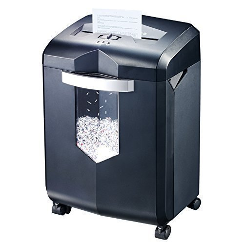 Bonsaii EverShred C149-D 12-Sheet Micro-cut Paper Shredder, 60 Mintues Running Time, Overload and Thermal Protection, Draw-out 6 Gallon Wastebasket Capacity, with 4 Casters